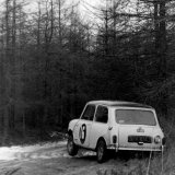 Granite City Rally - George Forbes (Mini Cooper S) Car 16 on the Durris Stage of the Granite City Rally, 06 April, 1968