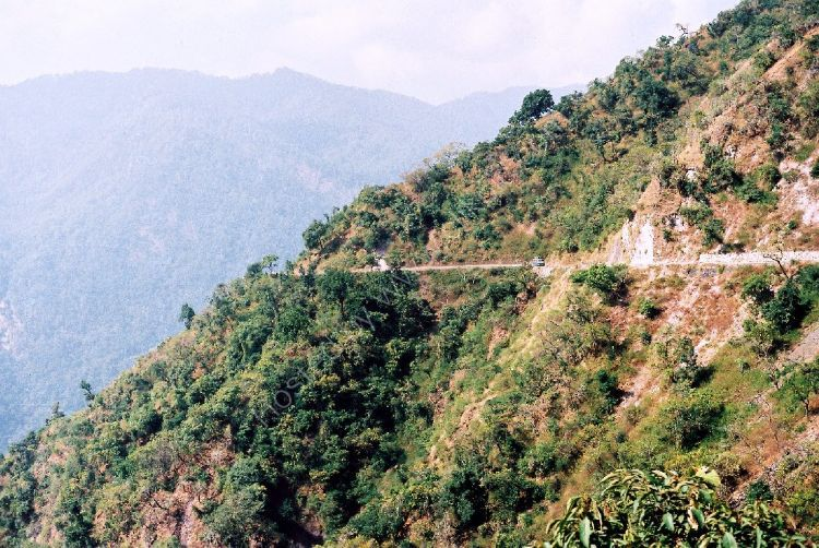 INDIA - Bus (look closely) in the Himalayas