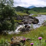 SCOTLAND - River near the Monadhlaith Mountains near Rannoch Moor