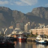 SOUTH AFRICA - Cape Town Harbour and Table Mountain