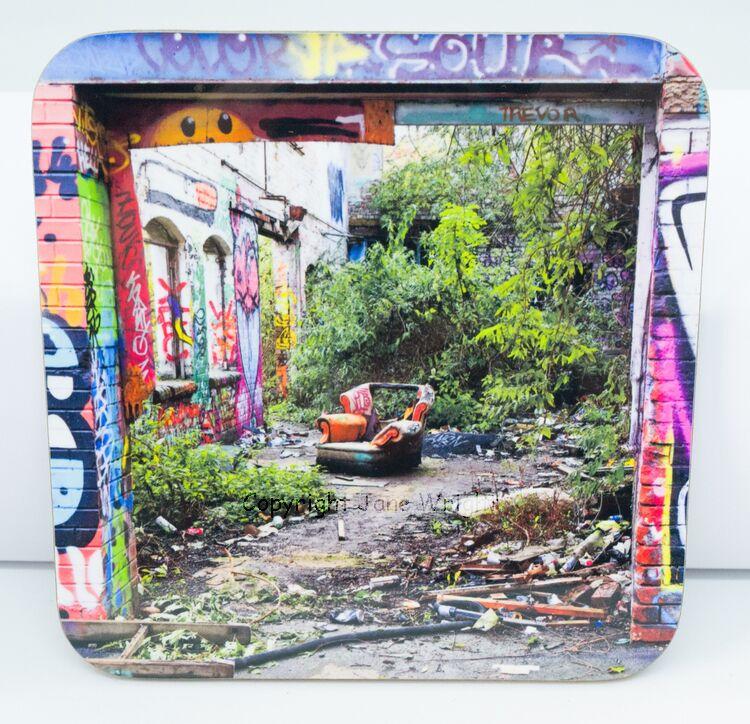 'Finding Myself' Single coaster 9cm x 9cm, 3mm thick.