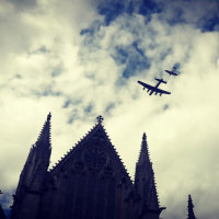 Lancaster flypast, Lincoln Cathedral