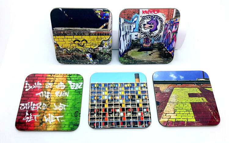 New, more Sheffield coasters, set of 5, price includes Uk P&P