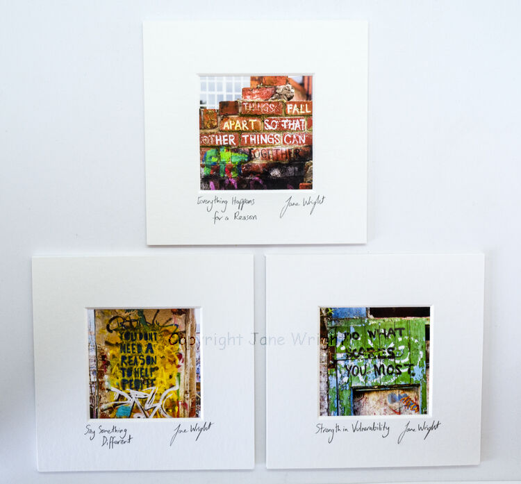 Set of 3 small mounted photographs. Sheffield