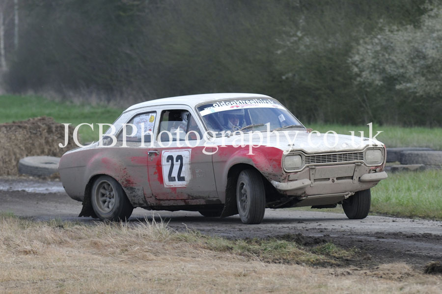 Ford Escort MkI driven by Nick Kitching and co-driver Andrew Trollope