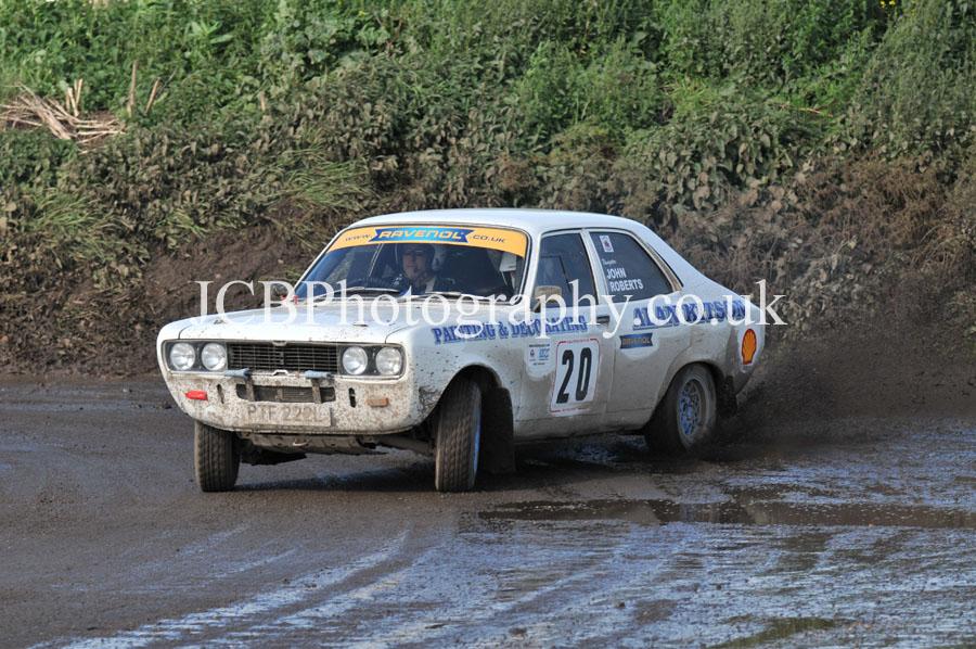 Hillman Avenger driven by Alan Kitson and co-driver John Roberts
