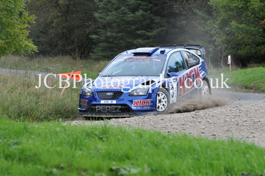 Ford Focus WRC driven by Steve Perez and co-driver Paul Spooner