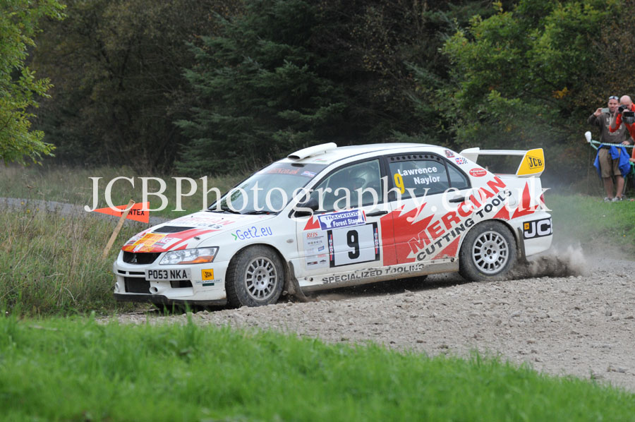 Mitsubishi Evo 9 driven by Pat Naylor and co-driver Ian Lawrence