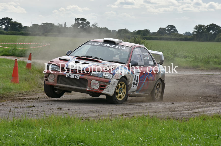 Subaru Impreza driven by Colin Mills and co-driver Philip Rushton