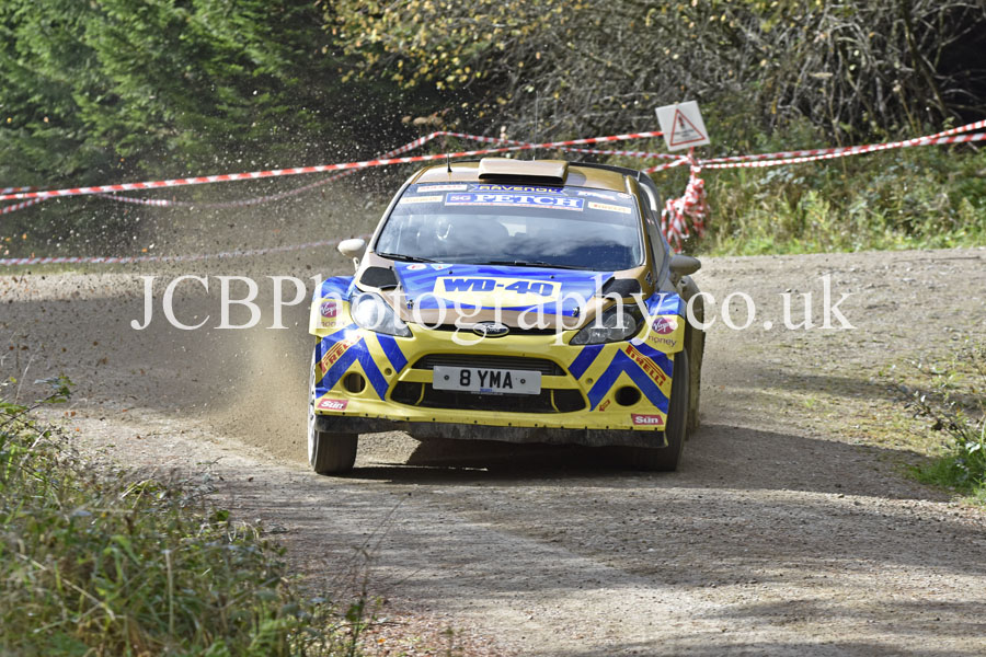 Stephen Petch & co-driver Michael Wilkinson. WD40 SG Petch Ford Fiesta RS WRC