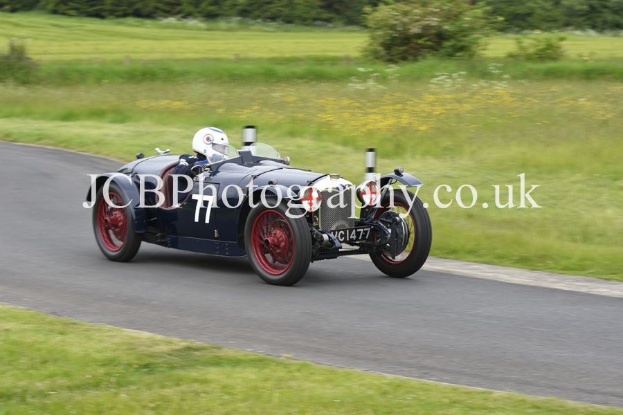 Riley Brooklands driven by Ian Standing