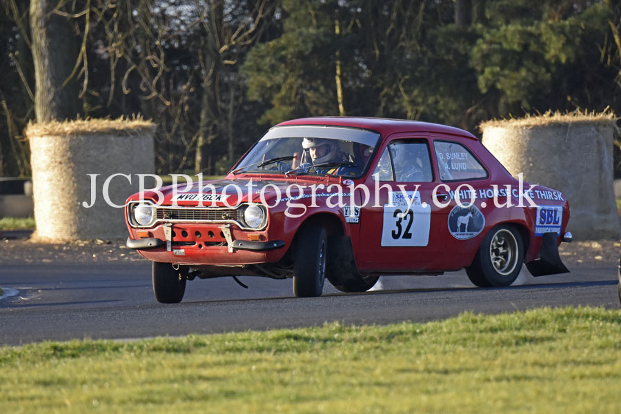 Ford Escort MkI driven by Alex Lund and co-driver David Sunley