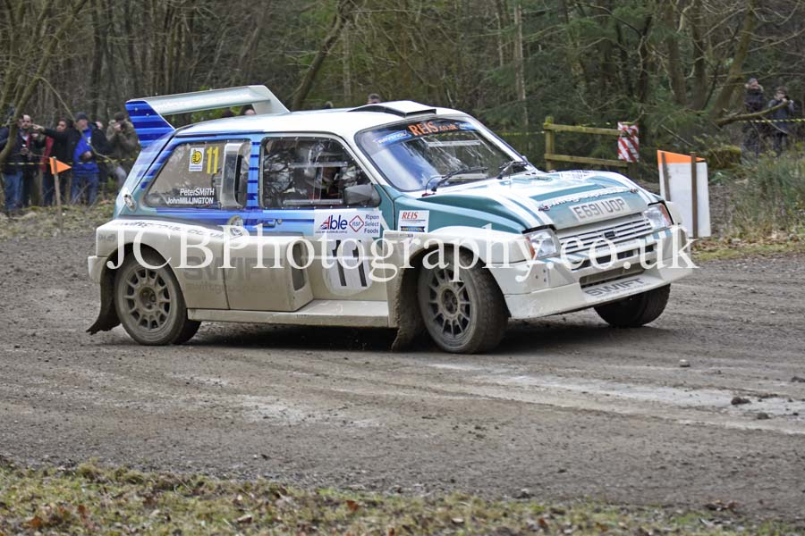 MG Metro 6R4 driven by Pete Smith and co-driver John Millington
