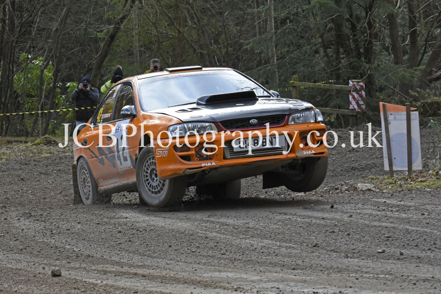Subaru Impreza driven by Rob Herrington and Co-driver Charlotte Wainwright