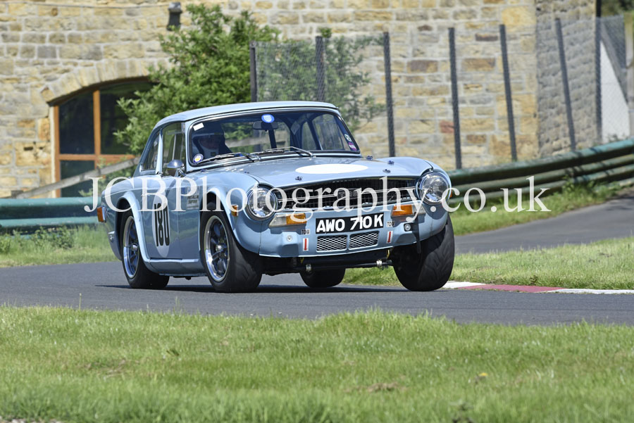 Triumph TR6 driven by Jim Johnstone
