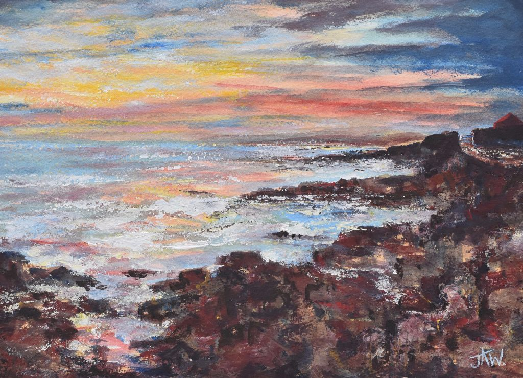 Sunset at Pink Bay