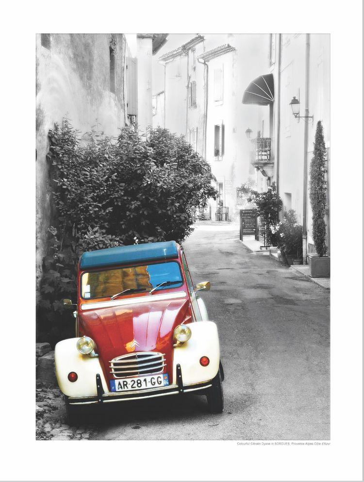 Colourful Citroën Dyane in SORGUES, Provence-Alpes-Côte d'Azur