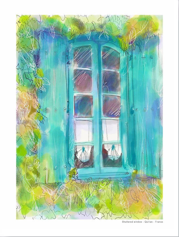 Shuttered window, Quillan, France