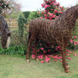 Cob horse willow sculpture