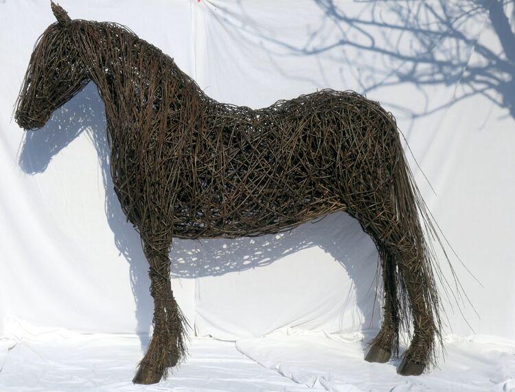 Fresian Horse outline