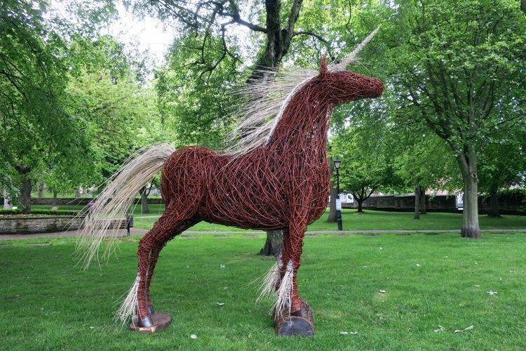 Unicorn in Barnsley park
