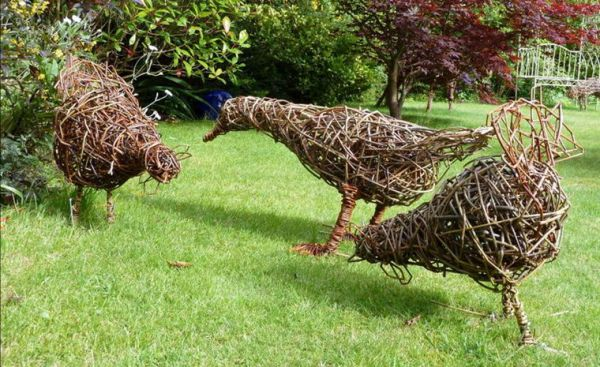 Willow Chickens and Duck