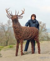 Willow deer sculpture - character, movement and power