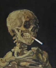 """""""Skull of a Skeleton with E-Cigarette - Homage to van Gogh"""""""