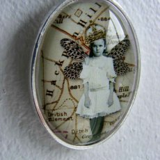 Original , mini collageunder domed glass