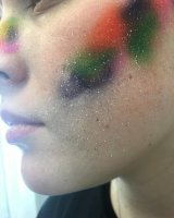 Colour and speckled airbrush effect