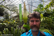 Selfie with Titan Arum - nearly there!