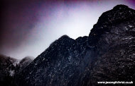Goatfell, rock and snow, Isle of Arran