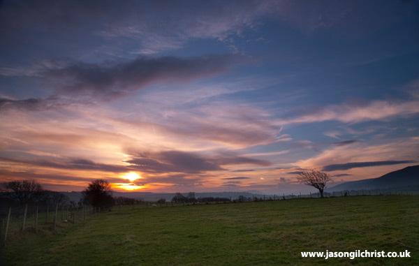 Sunrise toward the Lake District