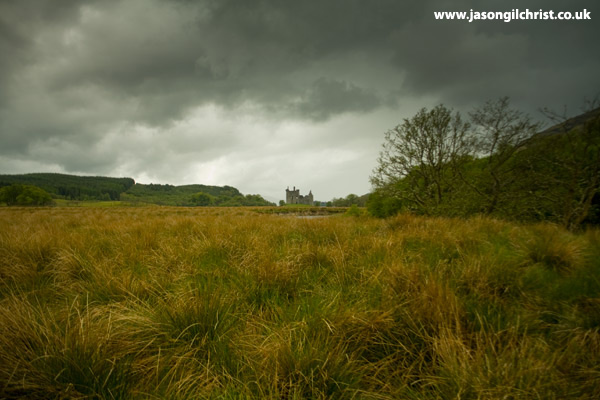 Kilchurn Castle across the bog