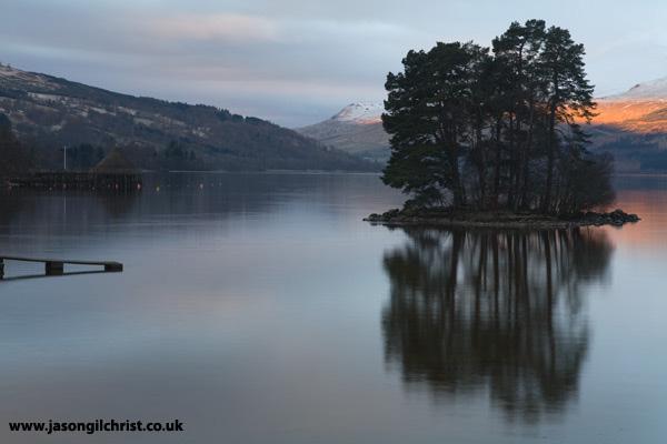 Dawn reflection on Loch Tay