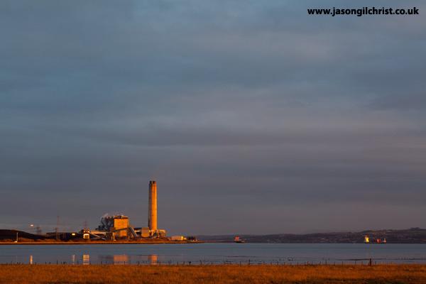 Golden light on Longannet Power Station