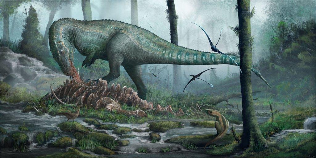 Megalosaurus scavenging
