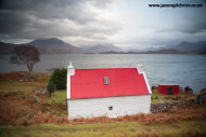 Red-roofed croft overlooking Loch Shieldaig