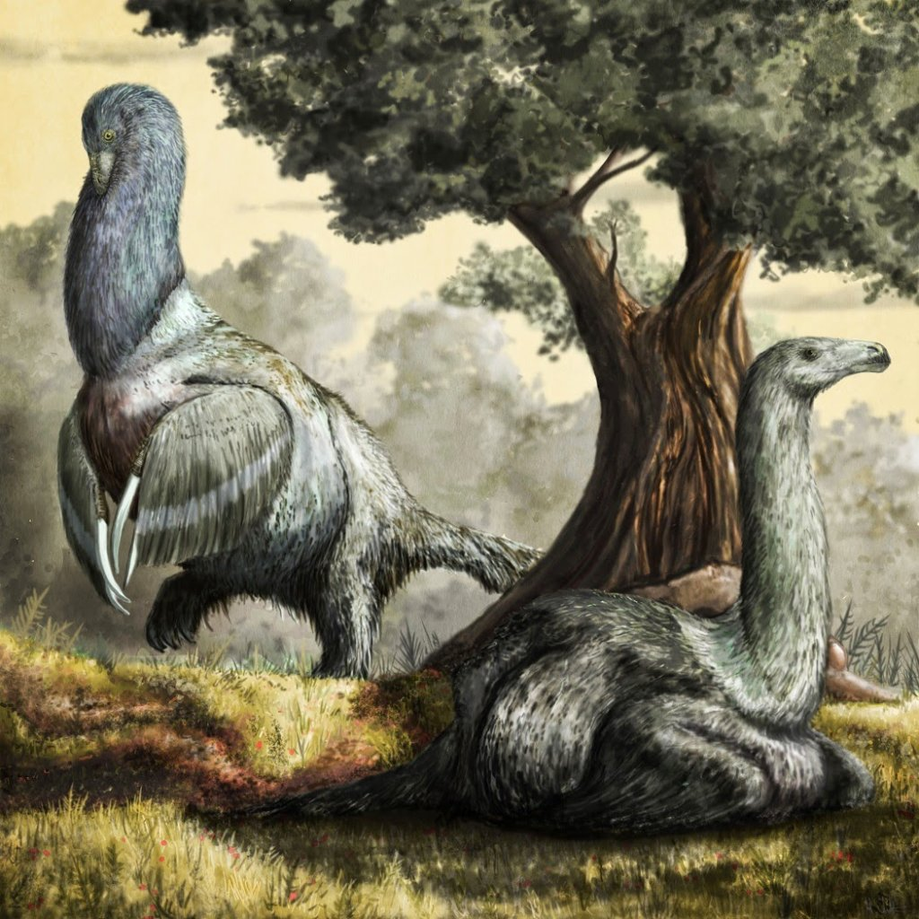 Therizinosaurus dinosaurs by Mark Witton