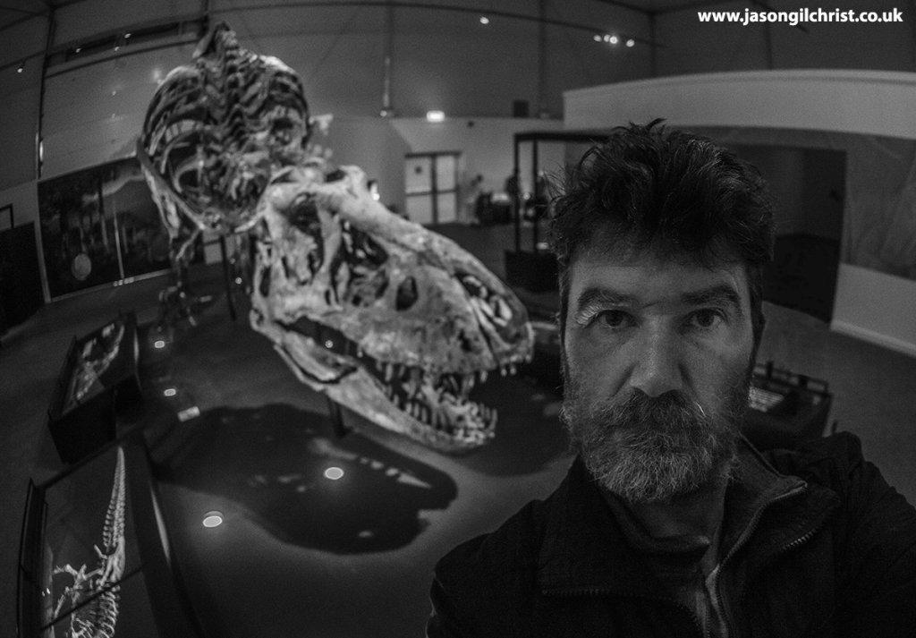 Selfie with Trix the Tyrannosaurus rex