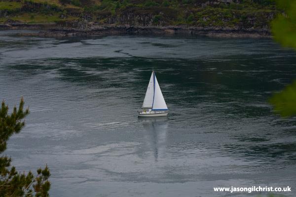 Yacht at Kylerhea