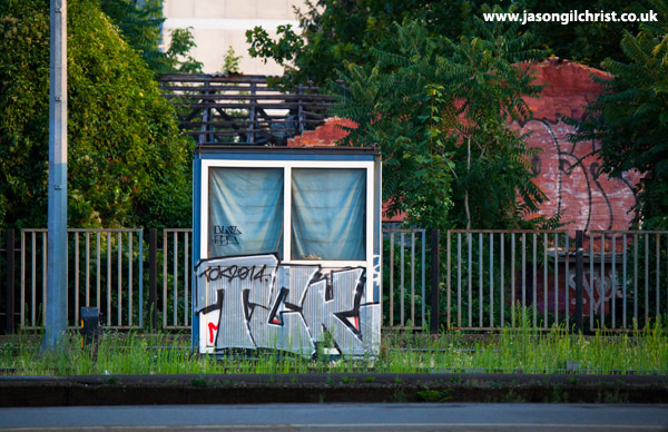 TCK graffiti box at the Train Station, Zagreb