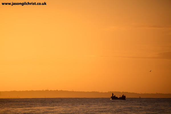 Algarve fishing boat at dawn
