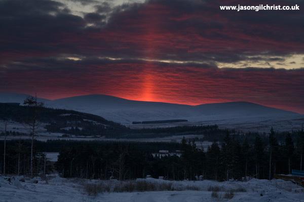 Tomintoul pink sunrise