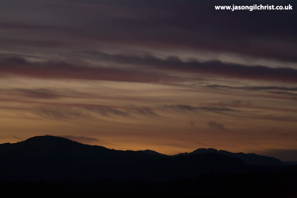 Sunset clouds over Trossachs