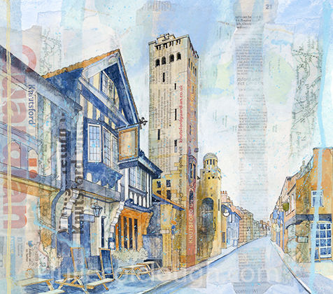 Painting of King Street in Knutsford