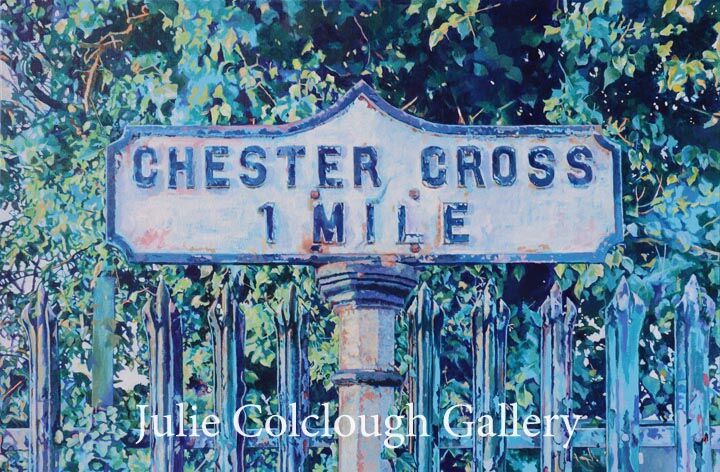 Chester Cross 1 mile signpost