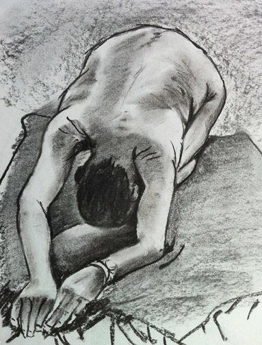 Figure study charcoal