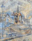 The Cross, Lymm.  50 x 40 cm