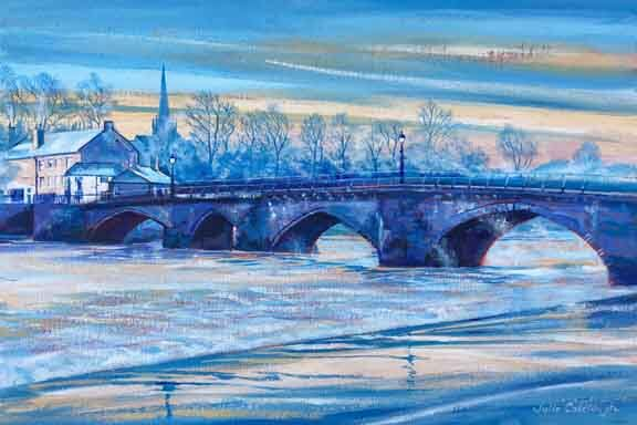 Painting of the Old Dee Bridge, Chester